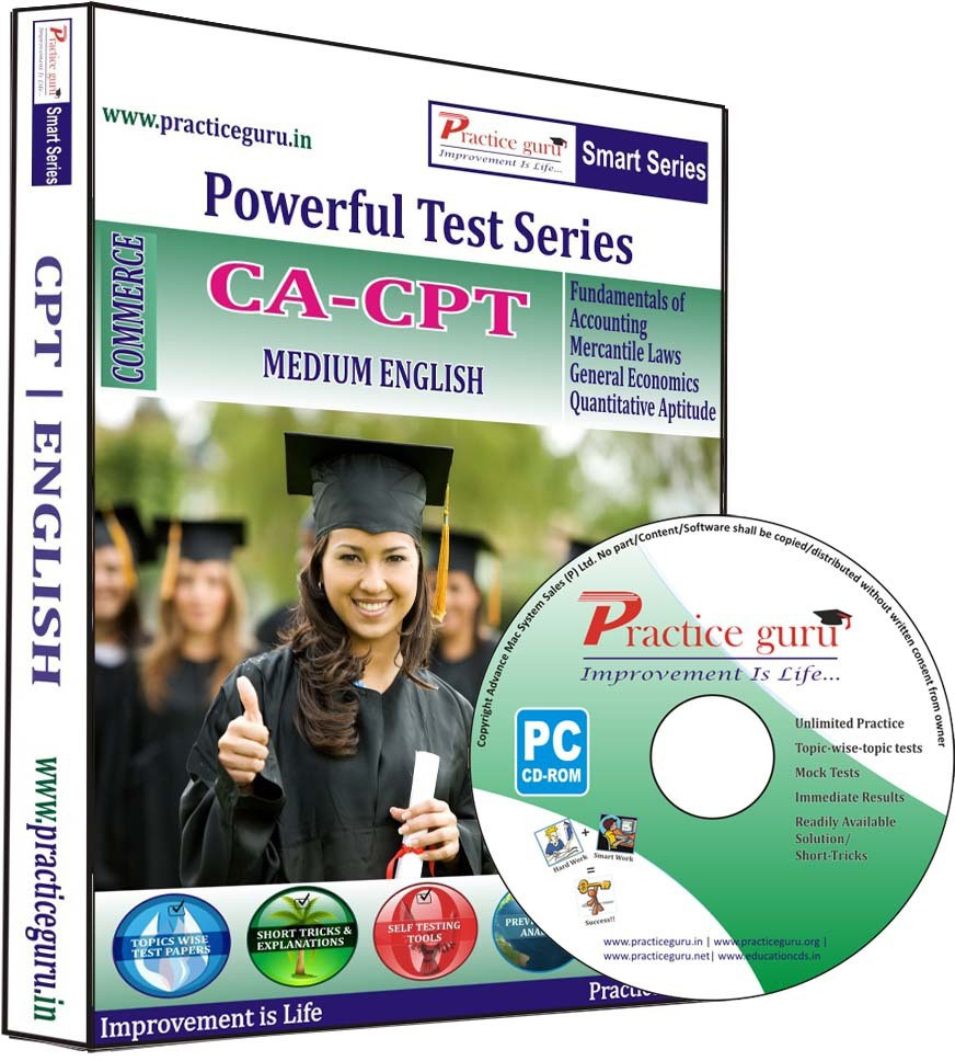 Practice Guru Powerful Test Series - CA - CPT Medium English