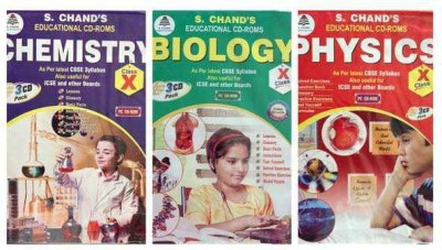 S.CHAND PHYSICS/CHEMISTRY/BIOLOGY- COMBO PACK CD FOR 10TH CLASS