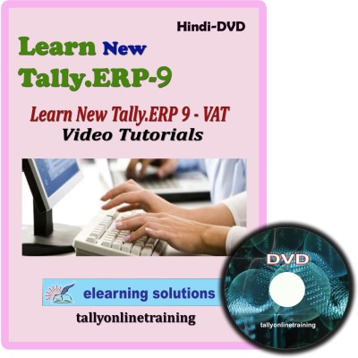 Elearning Solutions New Tally.Erp 9 VAT Video Tutorial in Hindi(DVD)