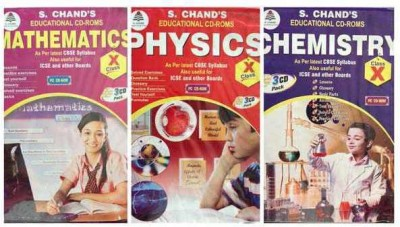 S.CHAND PHYSCIC/CHEMISTRY/MATHS- COMBO PACK CD FOR 10TH CLASS