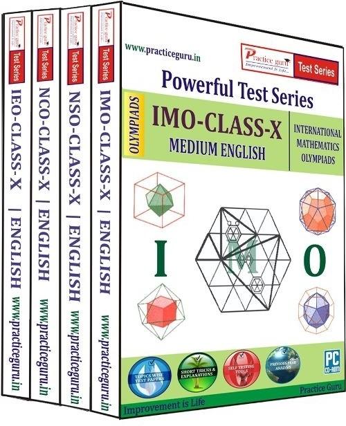 Practice Guru Powerful Test Series (IMO / NSO / IEO / NCO) Medium English (Class - 10) (Combo Pack)(CD)