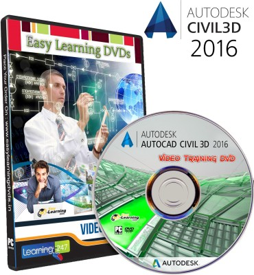 Easy Learning AutoCAD Civil 3D 2016 Video Training Tutorial DVD