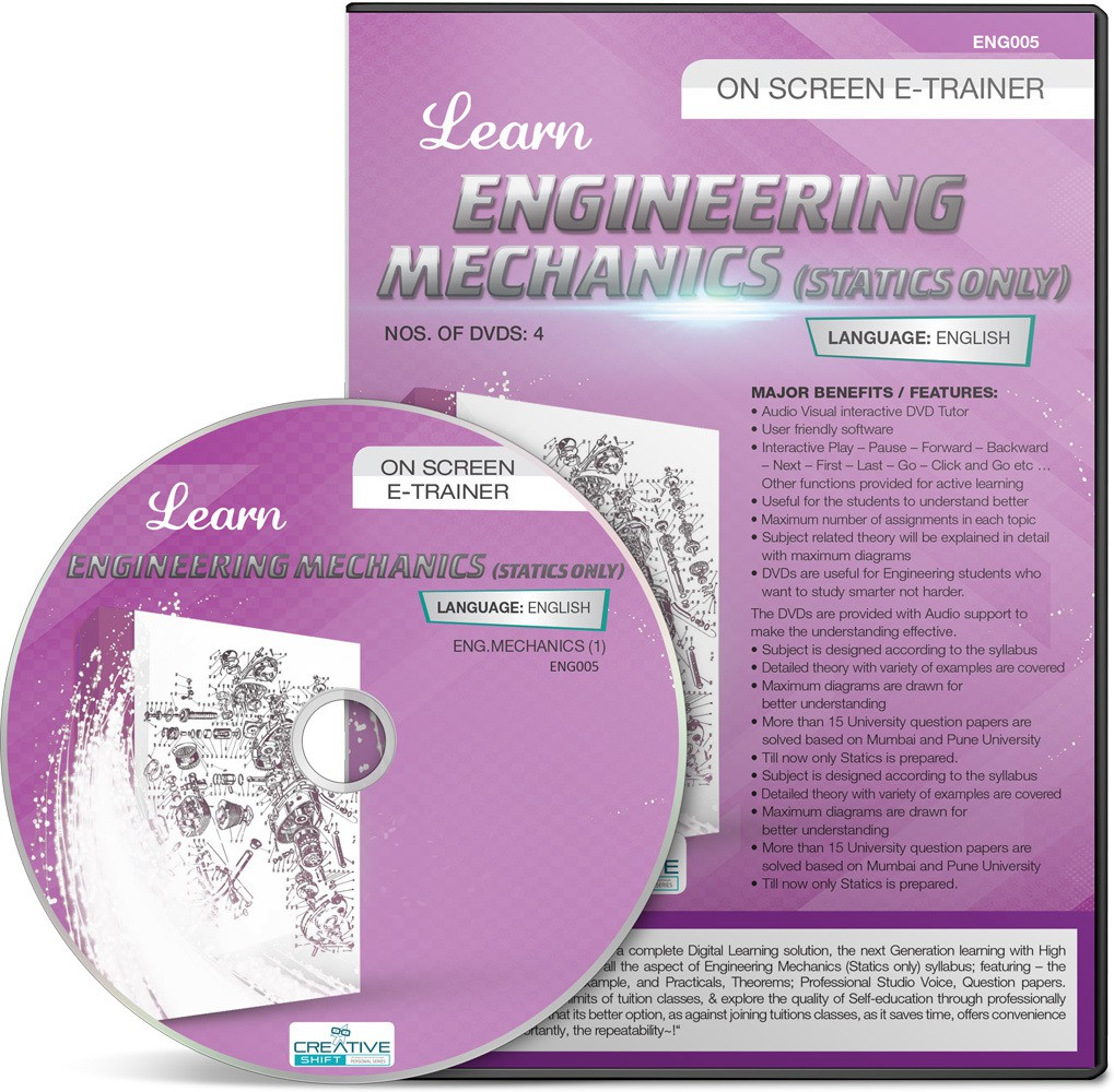 CreativeShift Engineering Mechanics (Statics only) (English)(DVD)