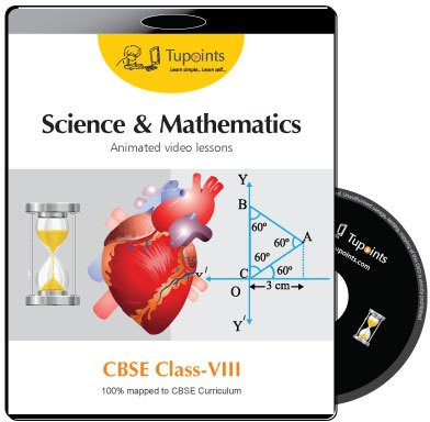 Tupoints CBSE VIII Science and Mathematics Animated video lessons(DVD)