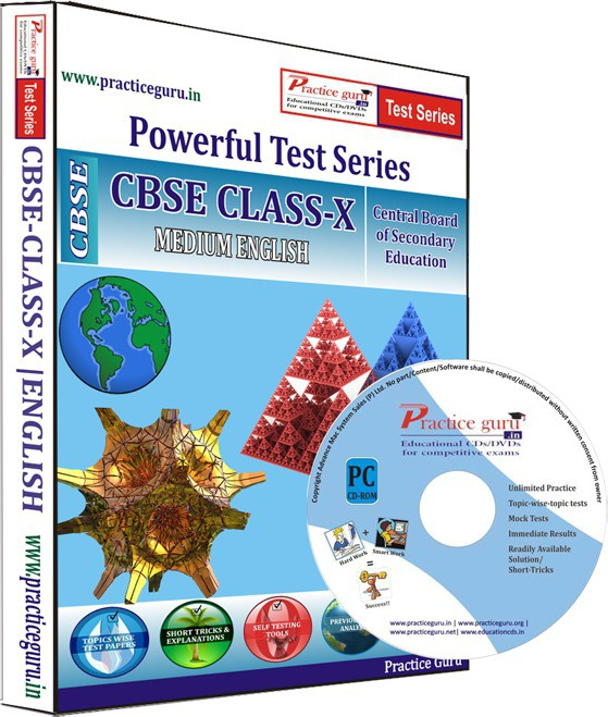 Practice Guru Class 10 - Maths, Science & English Combo Test Series(CD)
