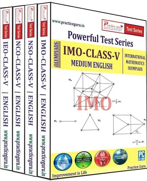 Practice Guru Powerful Test Series (IMO / NSO / IEO / NCO) Medium English (Class - 5) (Combo Pack)