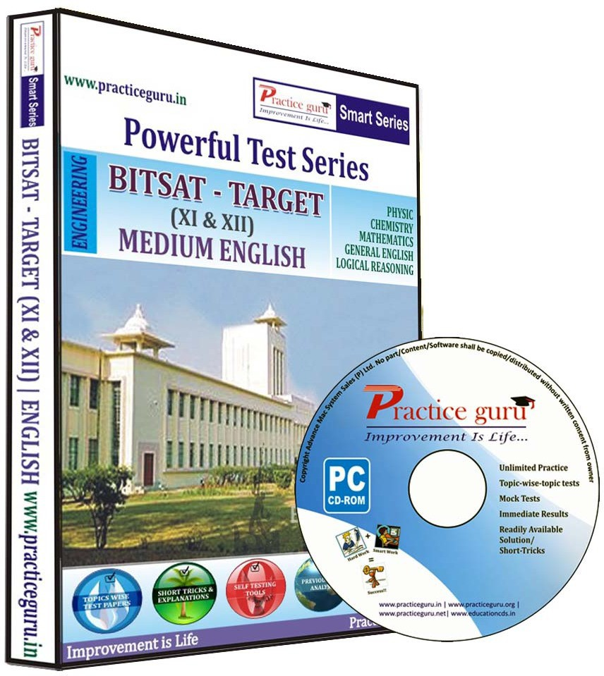 Practice Guru Powerful Test Series : BITSAT - Target Medium English (Class 11 & 12)(CD)