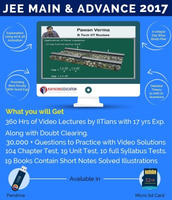 Kaysons Education JEE 2017 Main & Advanced (PCM) By IITians With 17 Years Of Exp Complete Package(Pendrive)
