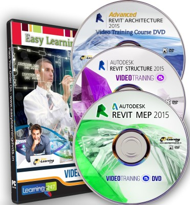 Easylearning Revit 2015 ( Architecture - Structure - MEP) Video Training on 3 DVDs Combo Pack