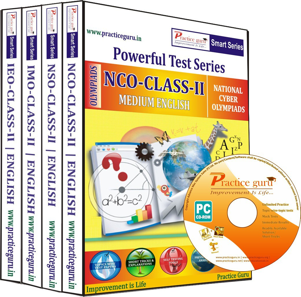 Practice Guru Class 2 - Combo Pack (IMO / NSO / IEO / NCO)