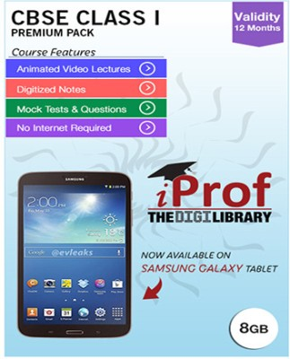 iProf CBSE Class 1 Maestro Series Premium Pack with Samsung Galaxy Tab 3 T211