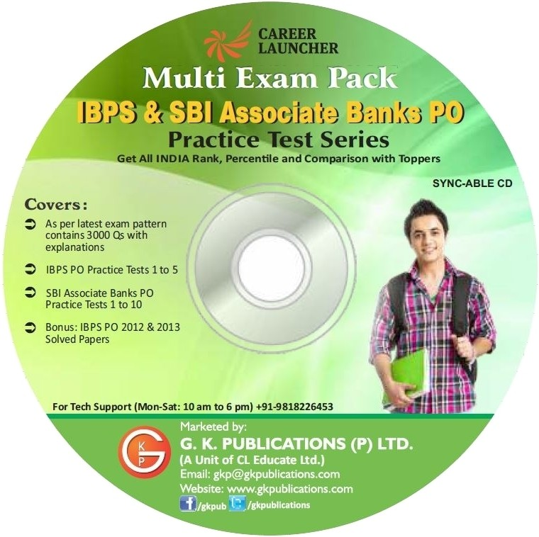 Career Launcher Multi Exam Pack IBPS & SBI Associate Banks PO Practice Test Series