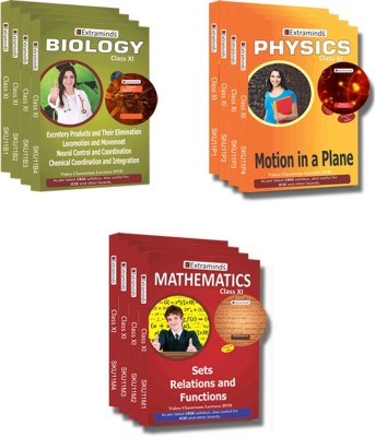 Extraminds Class XI - Combo – Physics-Maths-Biology- Lecture DVD