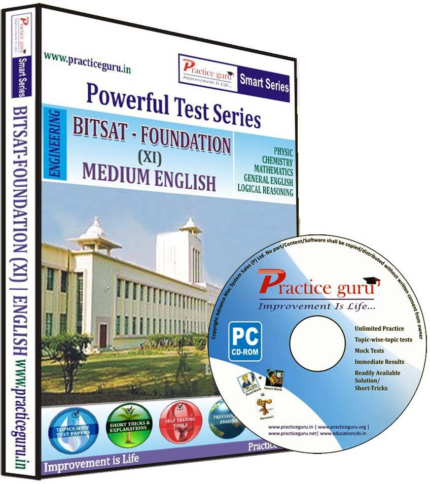 Practice Guru Powerful Test Series : BITSAT - Foundation Medium English (Class 11)(CD)