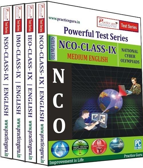 Practice Guru Powerful Test Series (IMO / NSO / IEO / NCO) Medium English (Class - 9) (Combo Pack)