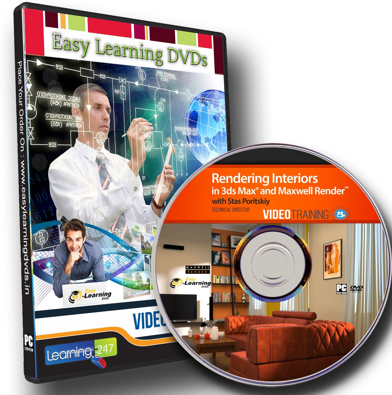 Easylearning Rendering Interiors In 3ds Max And Maxwell Render Video Training Dvd(DVD)