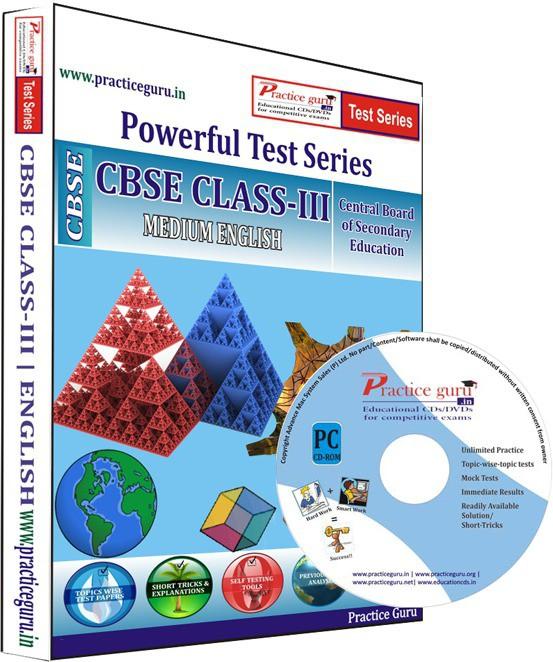 Practice Guru Class 3 - Maths, EVS & English Combo Test Series(CD)