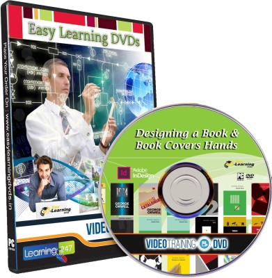 Easy Learning Designing a Book, Book Cover Hands & Ebooks Digital Publishing Video Tutorial Course DVD