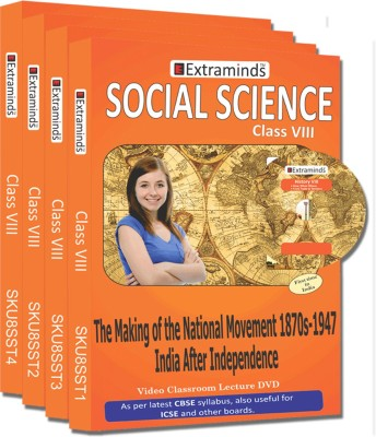 Extraminds Class VIII - Combo Social Science - Lecture DVD