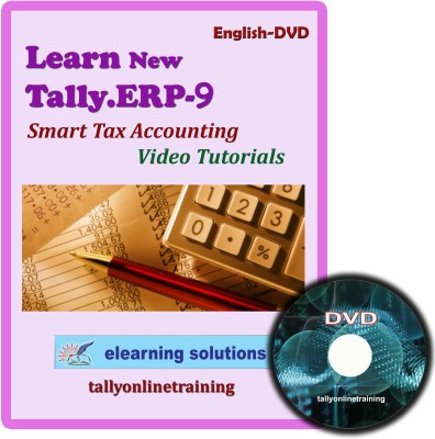 Elearning Solutions Tally.ERP 9 Smart Tax Accouting Video Tutorial in English