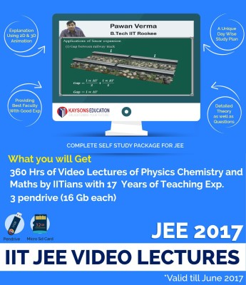 Kaysons Education JEE 2017 Main & Advanced (PCM) Video Lecture By IITians With 17 Years Of Experience(Pendrive,Micro SD Card)