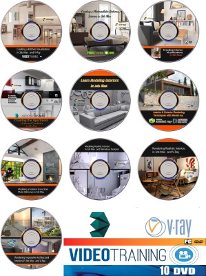 Easy Learning Designing Interiors in 3ds Max Video Training 12 Courses Bundle Pack on 10 DVDs