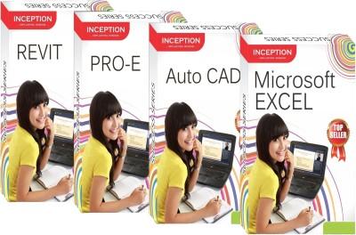 Inception Learn Auto Cad+Pro-E+Revit+Microsoft Excel (Inception Success Series - 4 Cds)