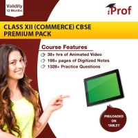 iProf Class 12 (Commerce) CBSE Premium Pack in educational tablet(Educational Tablet)