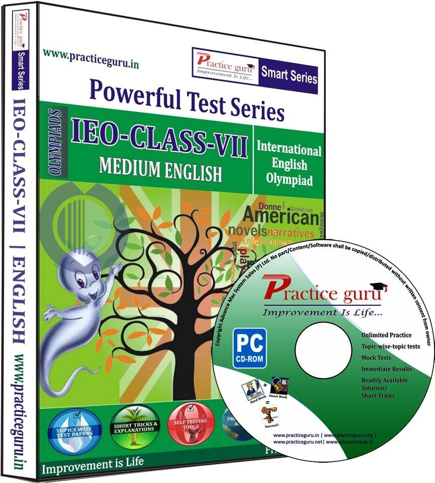 Practice Guru Powerful Test Series IEO Medium English (Class - 7)