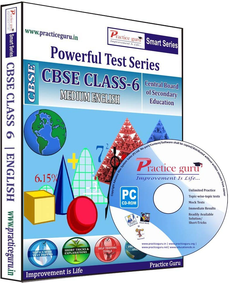 Practice Guru Class 6 - Maths, Science & English Combo