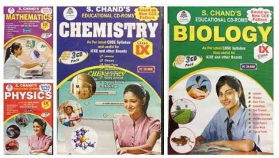 S.CHAND PHYSICS/CHEMISTRY/MATHS/BIOLOGY- COMBO PACK CD FOR 9TH CLASS