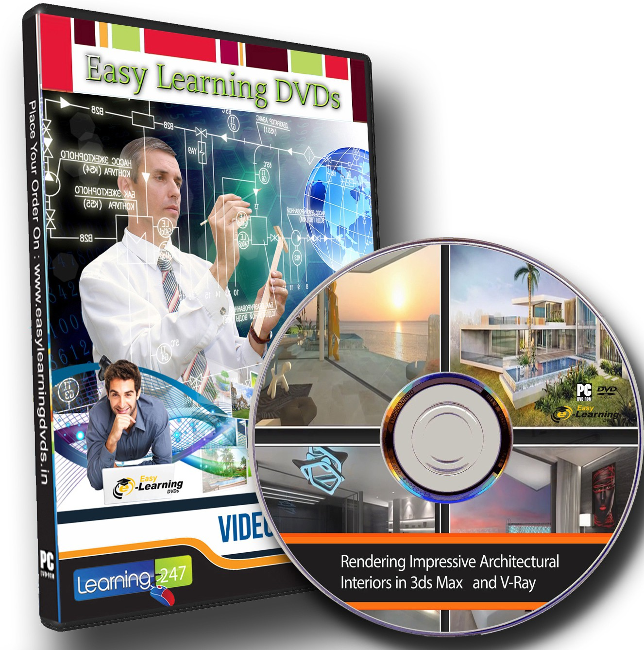 Easy learning Rendering Impressive Interiors in 3ds Max and V-Ray Video Training DVD(DVD)