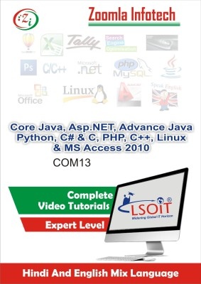 LSOIT Core Java+Asp.NET+JSP+Python+C #+CProgramming Pack+PHP+(C++ Programming)+Linux+MS Access 2010 Video tutorials in hindi , Total 1453 Lectures and Total Duration 149 Hours