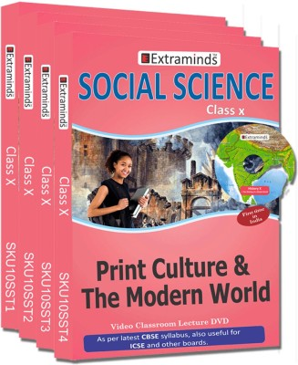 Extraminds Class X - Combo Social Science - Lecture DVD