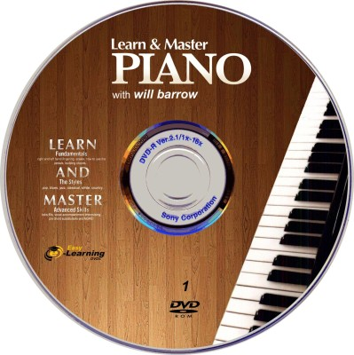 Easy Learning Learn & Master Piano Video Training Complete Course Set of 5 DVDs