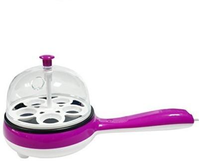 Nashware Multifunctional Electric Frying Pan with Egg Steamer Pink ELECTRIC_FRYER_STEAMER-PK Egg Cooker(6 Eggs)
