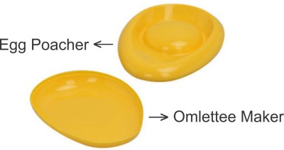 Ruchi Houseware Plastic Microwave-Safe Egg Poacher