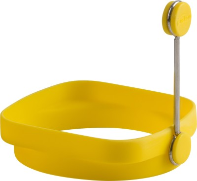 Trudeau Square/Round Egg Ring Silicone Egg Separator(Yellow, Pack of 1)