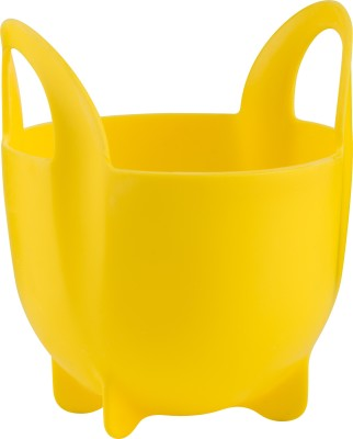 Trudeau Single Egg Poacher with handle Silicone Egg Separator(Yellow, Pack of 1)