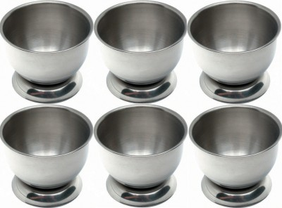 Dynore Set of 6 Delux Cups Stainless Steel Egg Separator Set(Steel, Pack of 6)