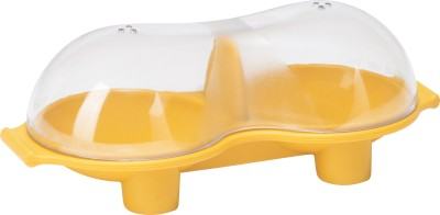 Trudeau SILICONE EGG POACHER With HANDLE Silicone Egg Separator(Yellow, Pack of 1)