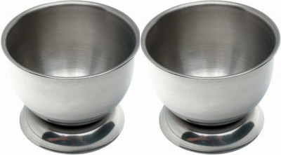 Dynore Set of 2 Delux Cups Stainless Steel Egg Separator Set(Steel, Pack of 2)