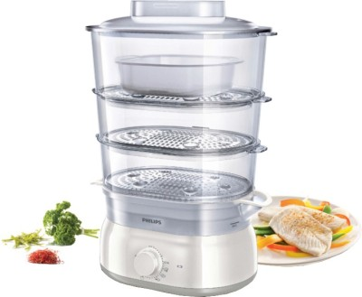 Philips HD9125/00 Food Steamer(9 L, White)