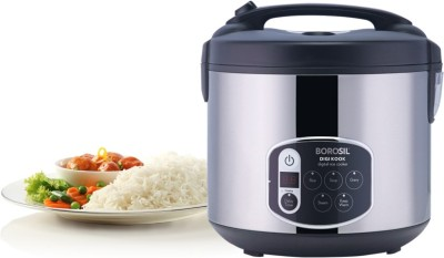 Borosil Digikook Electric Rice Cooker And Steamer 1800ml Electric Rice Cooker