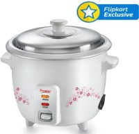 Prestige Delight PRWO - 1.5 Electric Rice Cooker with Steaming Feature(1.5 L, White)