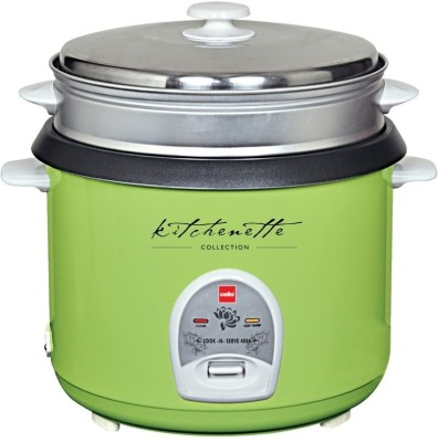 Cello Cook - N - Serve 400 A Electric Rice Cooker(2.8 L, Green)