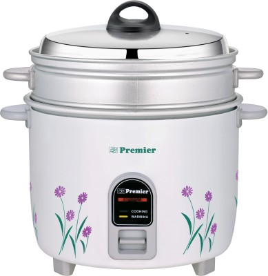 Premier ERC18ES Electric Rice Cooker with Steaming Feature