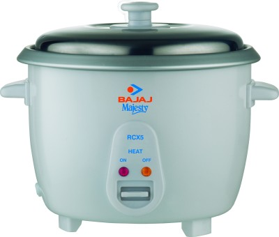 Bajaj Majesty RCX 5 Electric Rice Cooker(1.8 L, White)