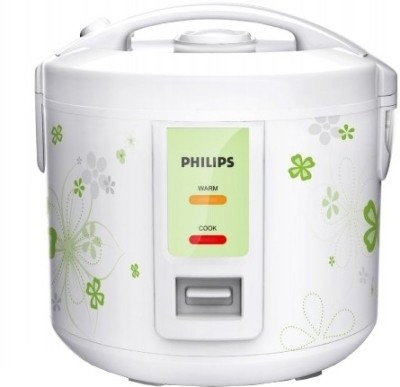 Philips HD3017/08 Electric Rice Cooker with Steaming Feature(1.8 L, White, Green)