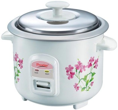 Prestige PRWO 0.6-2 Electric Rice Cooker with Steaming Feature(0.6 L, White)